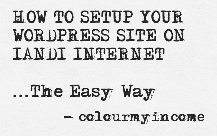 Find out how to create your WordPress site on 1and1 Internet the easy way >> http://www.colourmyincome.com/2014/how-to-setup-your-wordpress-site-on-1and1-internet/