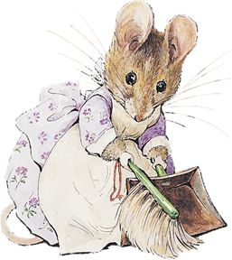 Hunca Munca from A Tale of Two Bad Mice by Beatrix Potter.