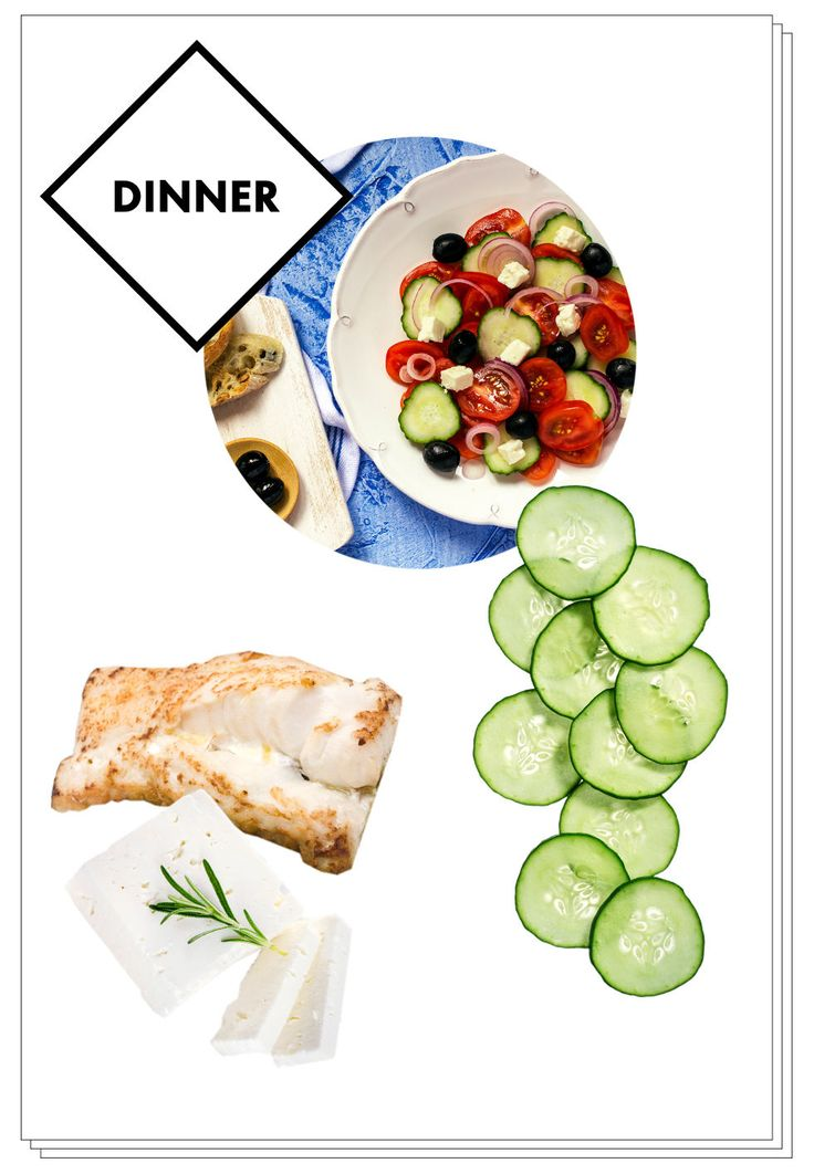 Elle Macpherson's Alkaline Diet - Sea bass with a Greek salad topped with goat's cheese or halloumi
