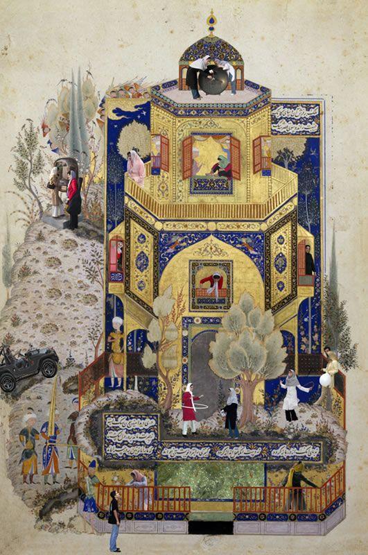 A Courtly Love, Soody Sharifi. #Iran #America #art