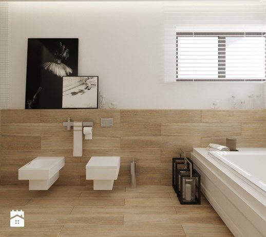 Projekt nr 6 - Duża łazienka w domu jednorodzinnym jako salon kąpielowy z oknem, styl nowoczesny - zdjęcie od Ewelina Witkowska Architektura Wnętrz