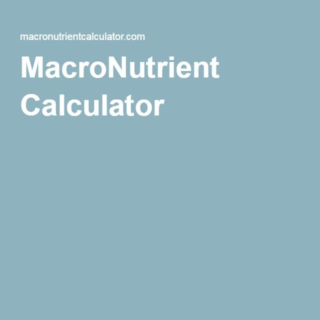 MacroNutrient Calculator
