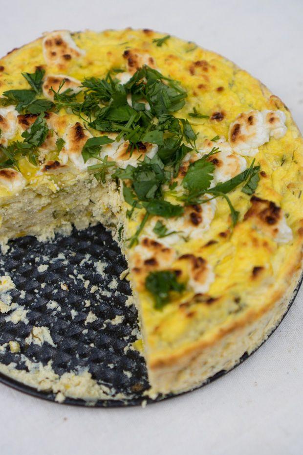 Zucchini Ricotta Cheesecake  Recipe  - A savory, summertime ricotta cheesecake recipe made with shredded zucchini, dill, garlic, and Parmesan cheese. Perfect picnic fare. - from 101Cookbooks.com