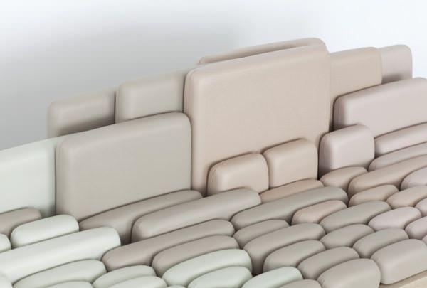 Benjamin Graindorge, designer français diplômé de l'ENSCI nous présente sa dernière création baptisée SofaScape, véritable canapé à géométrie variable