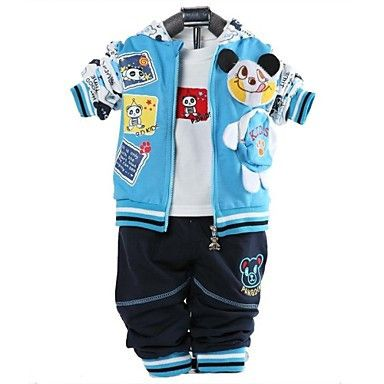 Boys Three-Piece Hoodie, T-Shirt, Trousers Blue. Only at www.pandadeals.co.uk