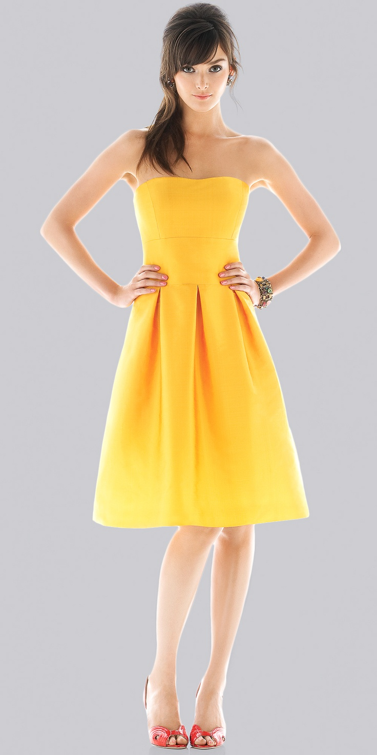 12 best images about yellow dress on pinterest vintage for Yellow dresses for wedding