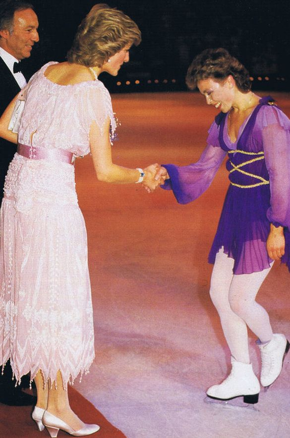Princess Diana attends the Torvill & Dean Ice Show at Wembley Arena - July 23rd, 1985