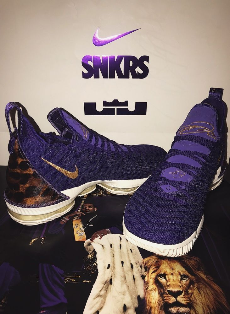 3967529eea0 Nike Lebron XVI 16 Exclusive King Court Purple DS New Size 10.5 ...