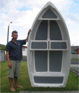 Dixi Dinghy stitch & glue plywood boat plans for amateur boatbuilders