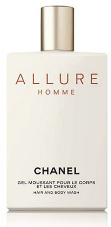 Chanel ALLURE HOMME Shower Gel. Translucent amber gel. Cleanses gently and respects the natural balance of the hair and the skin. Rinses off easily. Light fragrance.