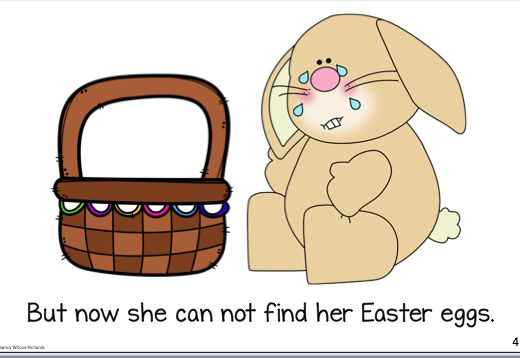 """The Missing Eggs"" written for Grade K-2:  comes in 3 levels for differentiation, plus has writing templates and questions for comprehension. A cute Easter resource!"