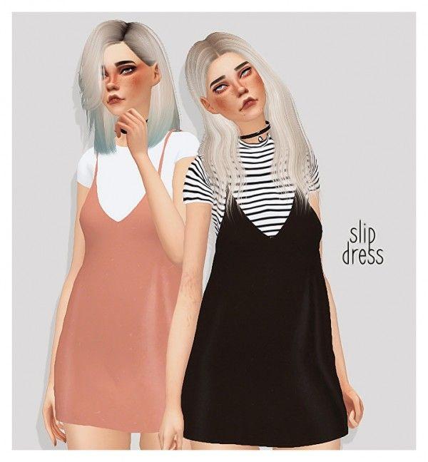 Pure Sims: Slip dress • Sims 4 Downloads