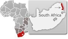 #Map of #South Africa with a highlight / location of #Kruger National Park. Find more info on Kruger @ www.safaribookings.com/kruger