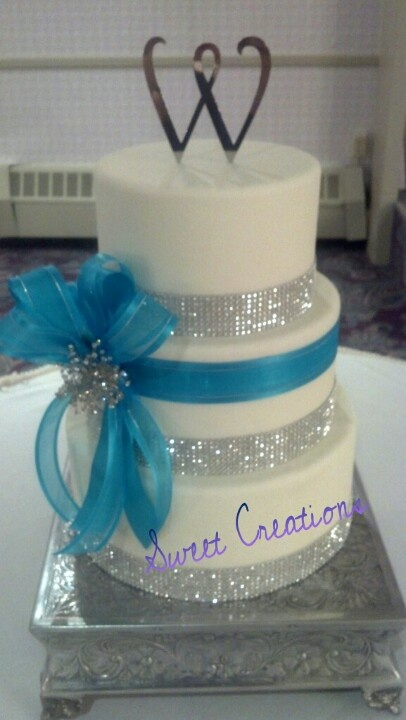 White wedding cake bling. Sweet creations by Marley