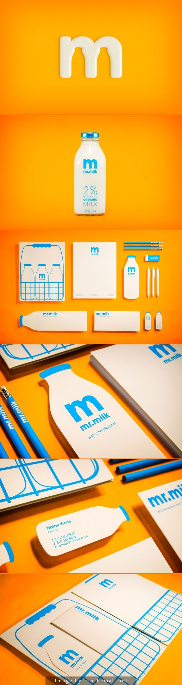 Milk branding makes the most of negative space