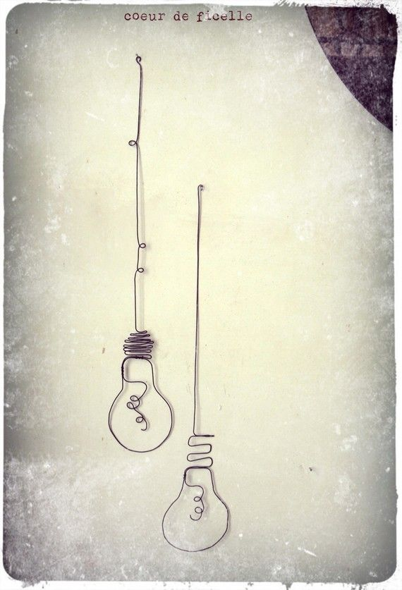 Set of 2 wire lightbulbs