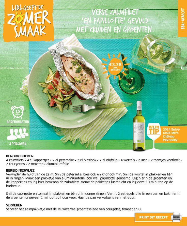 Verse zalmfilet 'en papillotte' gevuld met kruiden en groenten - Lidl Nederland