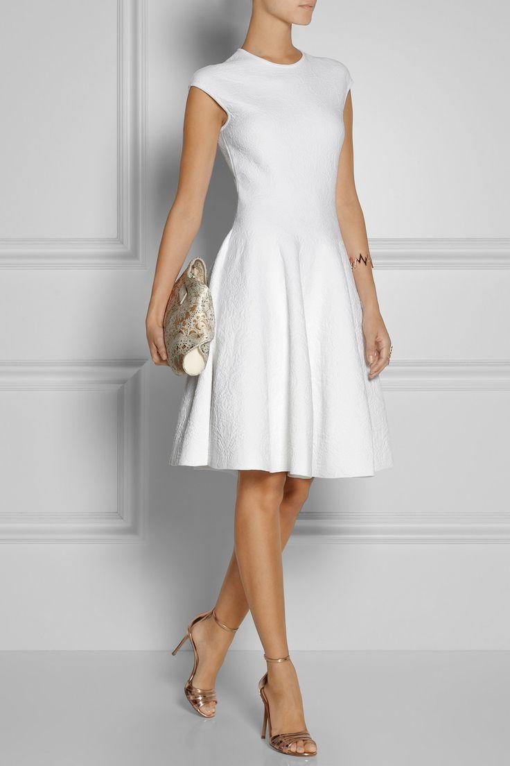 Alexander McQueen|Embossed jacquard-knit dress|NET-A-PORTER.COM