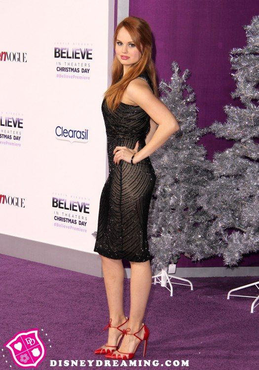 "Debby Ryan co-hosts Justin Bieber's ""Believe"" purple carpet!"