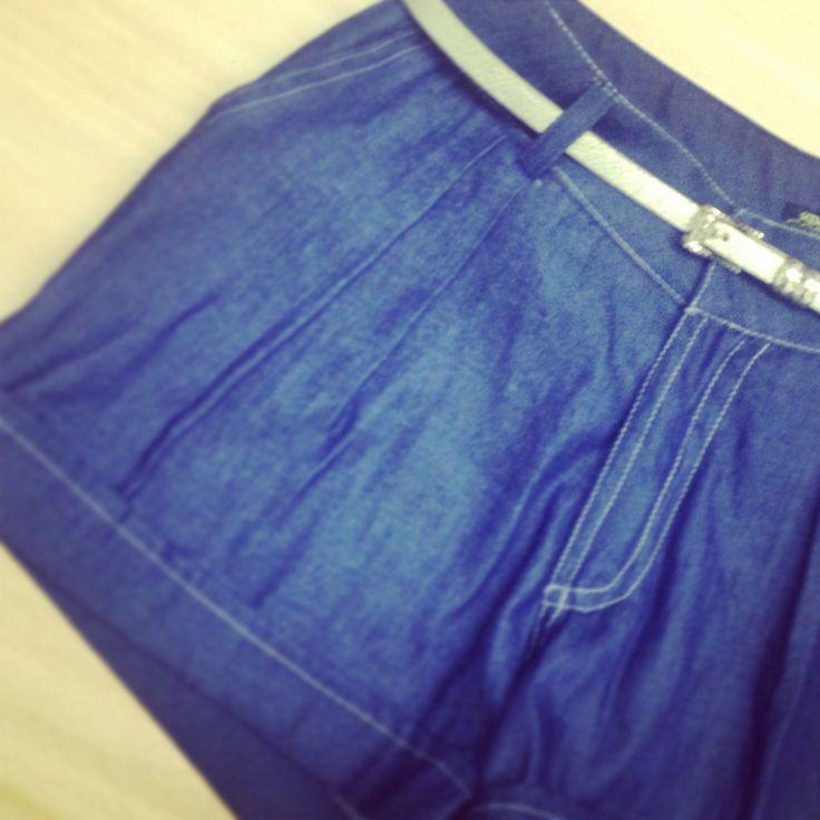 Shorts en índigo