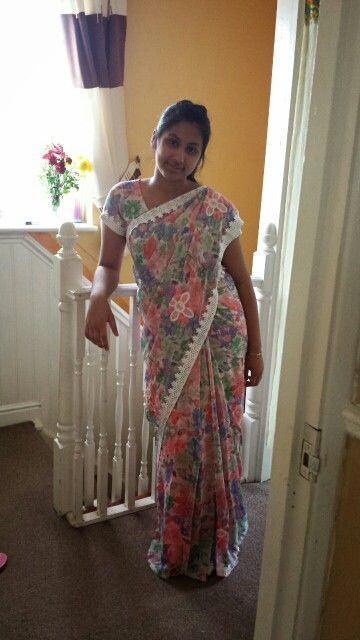 Indian floral sari... spring wear