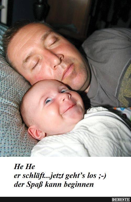 Hehe, er schläft.. | Lustige Bilder, Sprüche, Witze, echt lustig