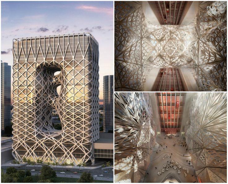 Космическая архитектура Захи Хадид 40-этажный отель в Макао, Китай
