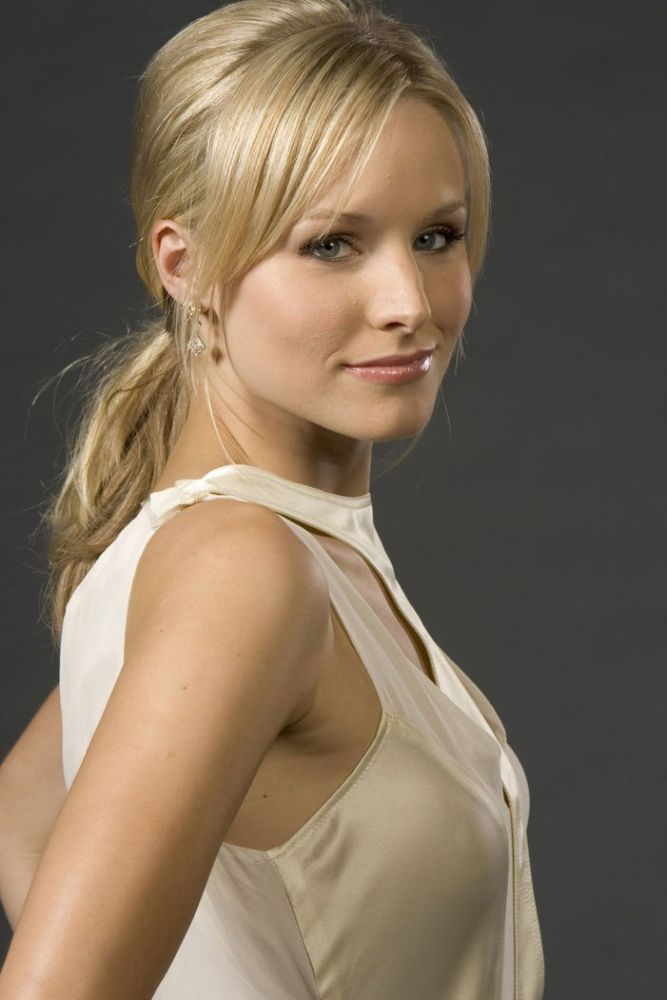 Kristen Bell Layered Side-Bangs