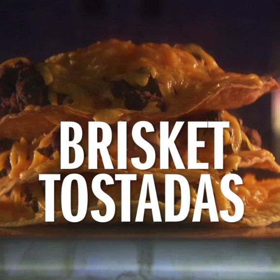Turn leftover brisket into Brisket Tostadas with The Pioneer Woman's recipe.