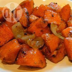 Foto recept: Geroosterde zoete aardappelen