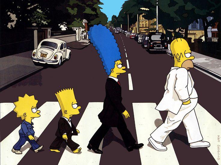 """THE SIMPSONS ABBEY ROAD"" ROLLING STONE MAGAZINE COVER ART.."