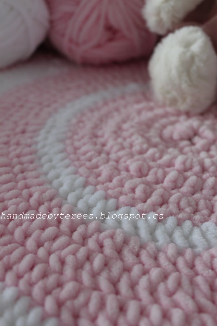 Crochet, blanket, pink for baby ...