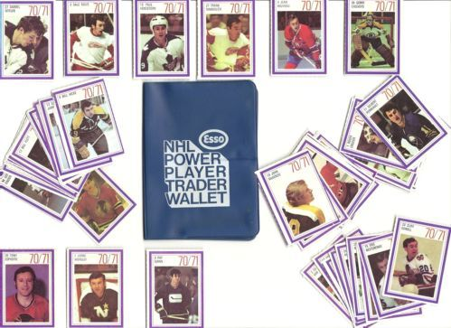 1971 ESSO POWER PLAYER TRADER WALLET WITH 55 STICKERS(BELIVEAU, T ESPOSITO ETC)