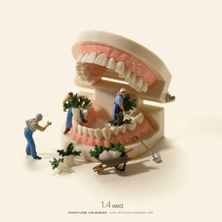 Teeth cleaning...