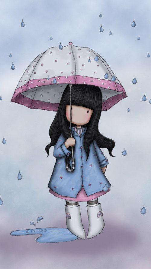 Spring Rain I Love Rainy Days ☂ Art Cute Art