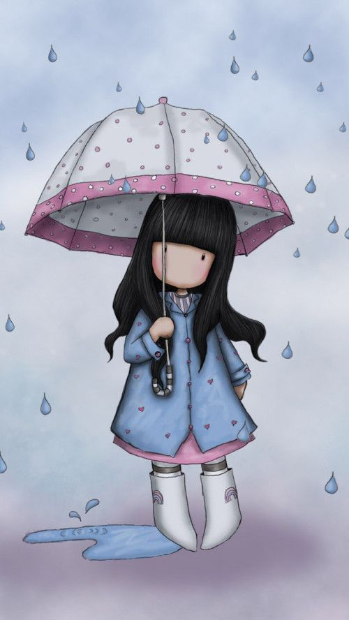Image Of Beautiful Girl Wallpaper Spring Rain I Love Rainy Days ☂ Art Cute Art