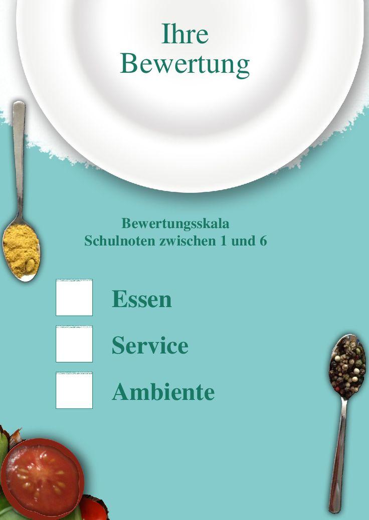 Mit Dieser Bewertungskarte Vorlage Geben Sie Ihren Gasten Die Moglichkeit Essen Service Und Ambiente Zu Bewerten Nutzen Sie Die Kr Restaurant Essen Bewertung
