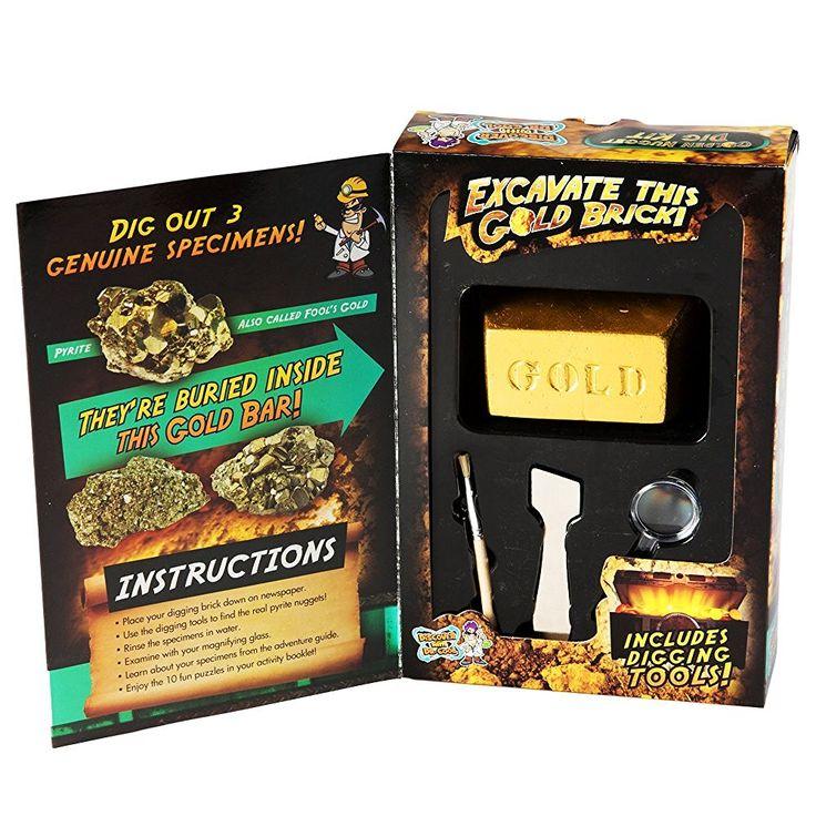Amazon.com: Dig для Gold Science Kit - выкопать Real Пирит Nuggets (Смеха Золото): Игрушки & Игры