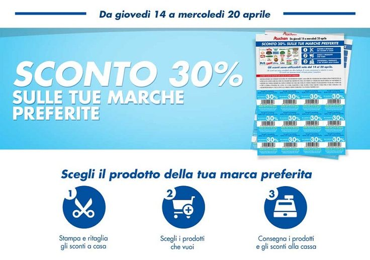 Codici Coupon Auchan del 30%