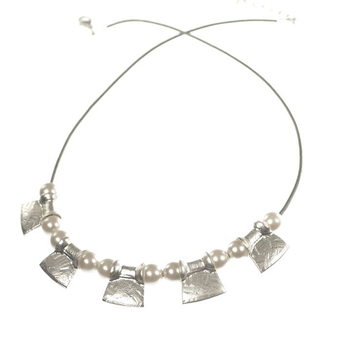 Seriously stylish..... introducing the new Hot Tomato Jewellery Pearls and Silver Ingots Silver Cord Necklace from Hot Tomato's new SS15 Collection.