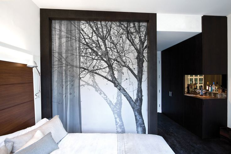 2010 The James Hotel Digitally printed roller blind