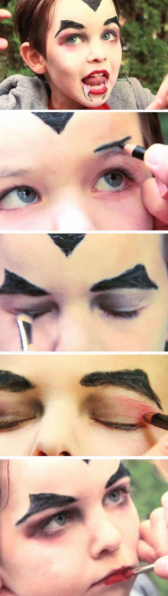 Dracula Vampire Makeup | DIY Face Painting Ideas for Kids | Easy Halloween Makeup Ideas for Kids
