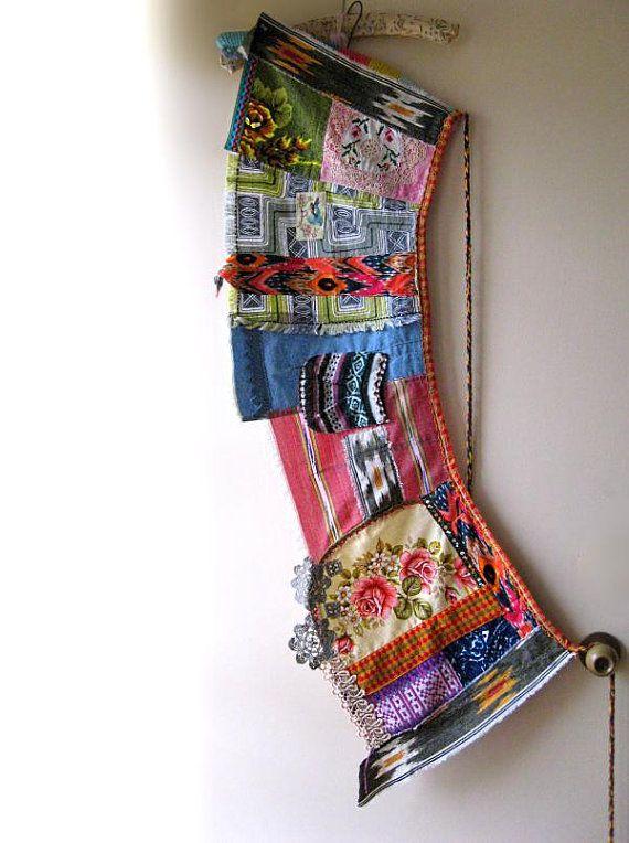Wrap Skirt, Aztec, Patchwork, Ikat, Vintage Fabric, Mini Skirt, Bohemian Gypsy, Tribal