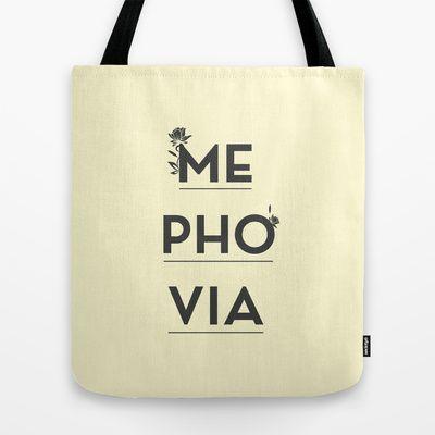 Mephovia Tote Bag by Spyros Athanassopoulos - $22.00  #totebags #mephovia #bag #fabric