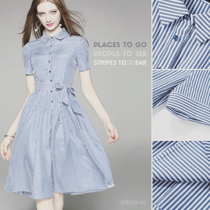 Places To Go People To See Striped & Flared Dress To Wear - bitpix.io