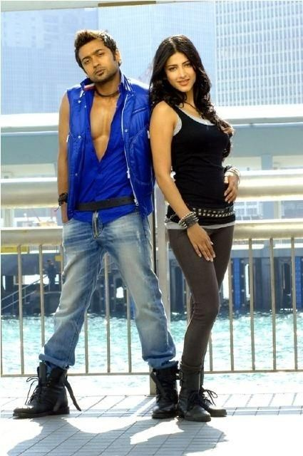 Suriya and Shruthu Hassan In 7aum Arivu