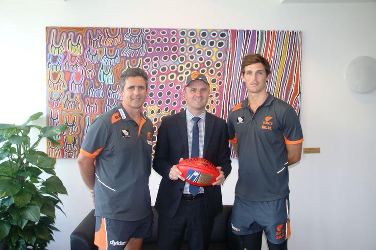 With GIANTS coach Leon Cameron and Captain Phil Davis