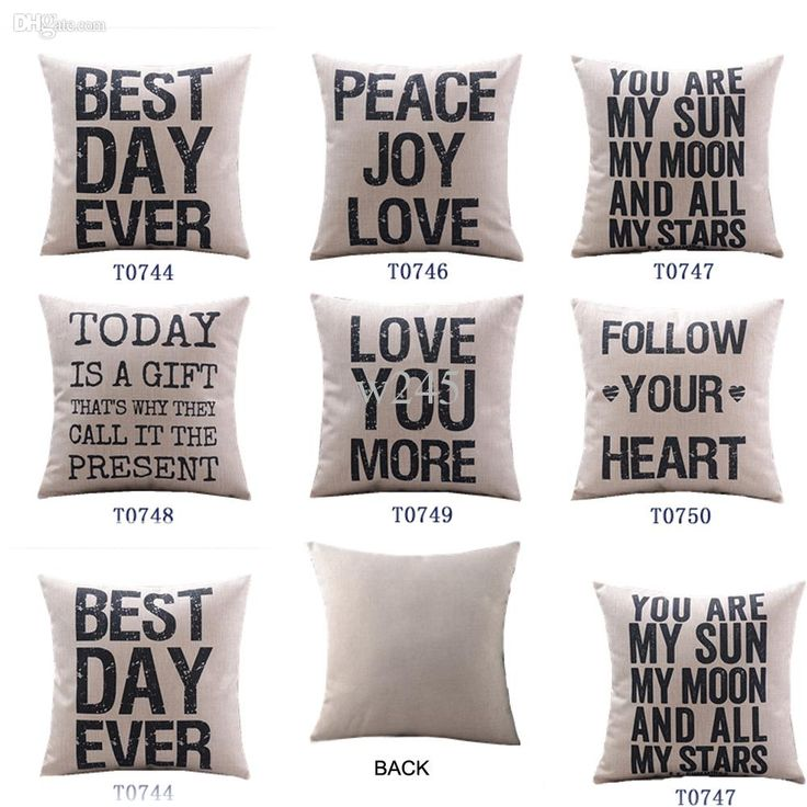 Decorative Throw Pillows With Words : Wholesale-Home Decor Cotton Linen Decorative Throw Pillow Cover Cushion Cover Proverb Words ...