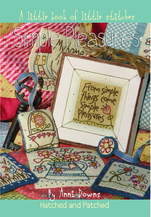 Simple Pleasures quilt - embroidery