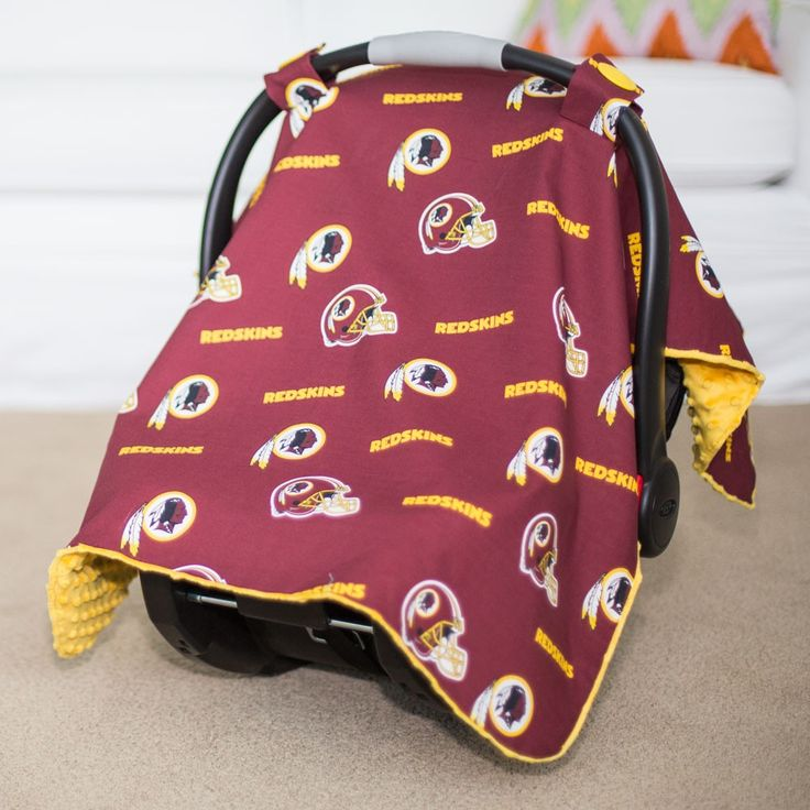 Washington Redskins Baby Gear: Infant Carseat Canopy Cover, NFL Licensed